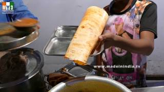 MASALA DOSA MAKING   INDIAN BREAKFAST RECIPES   STREET FOODS 2017