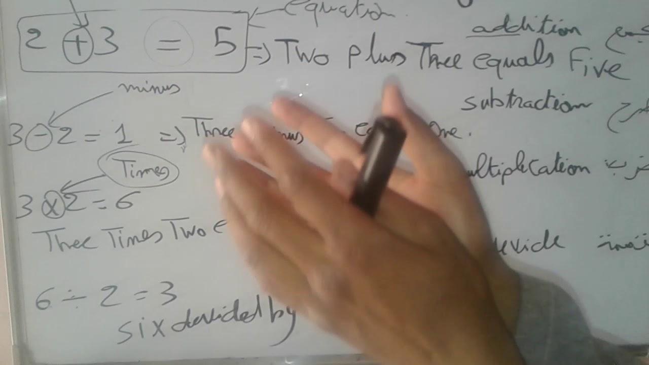 Math Words In English مصطلحات الرياضيات باﻻنجليزية Youtube