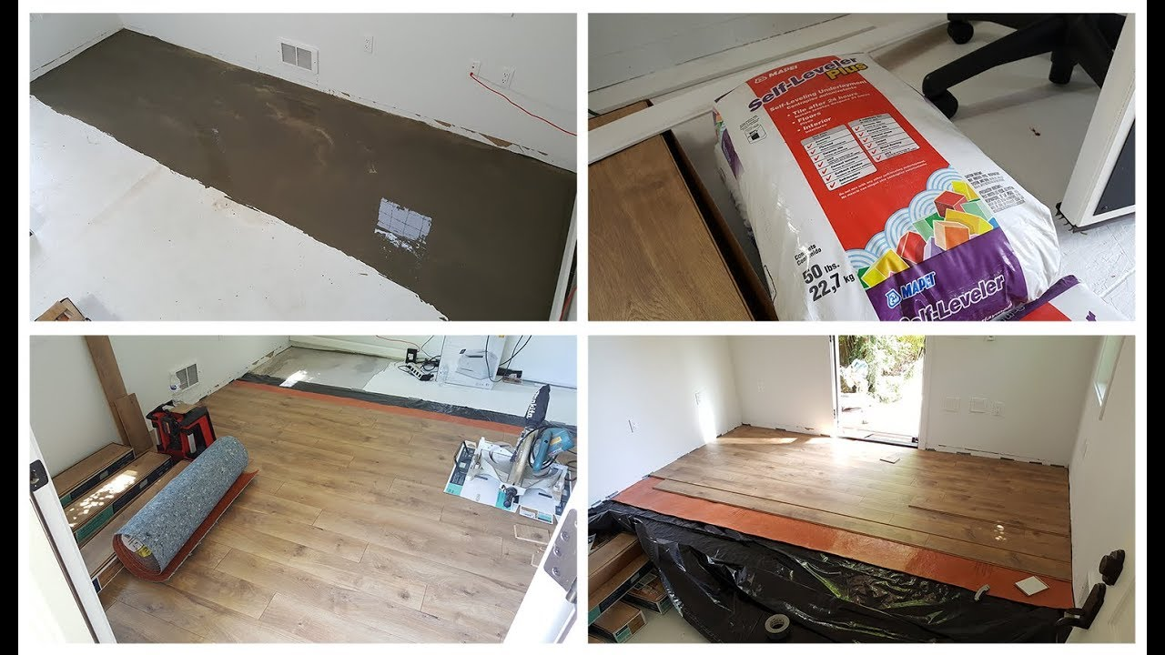 How To Level Floor Before Laminate Diy, Self Leveling Underlayment For Laminate Flooring