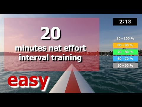 (01/05) - 28/20 minute rowing workout - easy beginner interval training (updated)