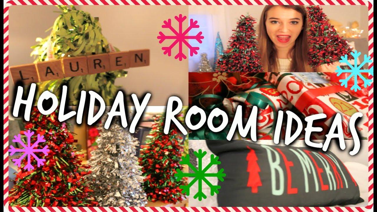 diy christmas room decor holiday room tour cheap and easy