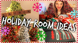 DIY Christmas Room Decor + Holiday Room Tour! (Cheap and Easy)