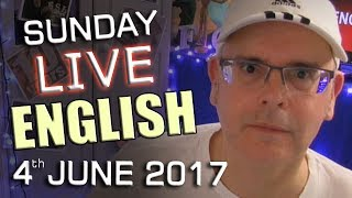 Learn English LIVE lesson - The origins of English - Sunday Chat - 4th June 2017 - with Mr Duncan