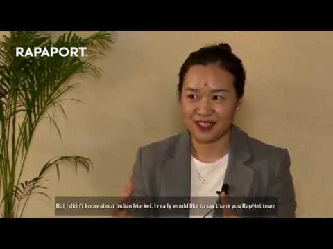 Li Shuang's experience at Rapaport Surat Trade Mission 2020