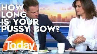 Karl touches Lisa's Pussy Bow | TODAY Show Australia