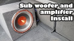 How to: Install a Subwoofer and Amplifier in a car