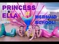 Princess Ella & Friends Visit Real Life Aqua Mermaid School  and Learn to Swim like Real Mermaids.