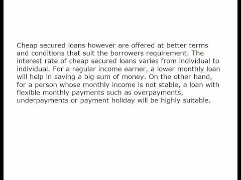 The Best Comes With The Lowest with cheap secured loans 681924