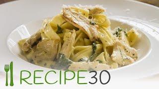 Chicken Fettucine Alfredo By Www.recipe30.com
