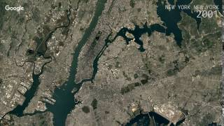 Google timelapse: new york, york