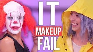 IT Pennywise Halloween Makeup Tutorial FAIL! (Beauty Break)
