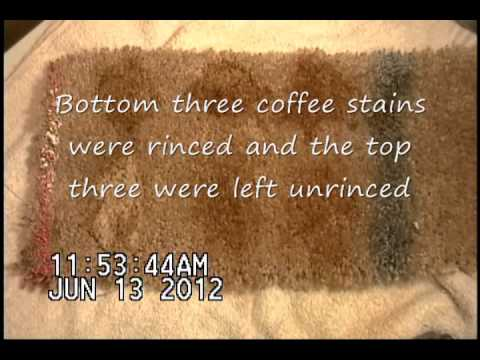 how to avoid coffee stains
