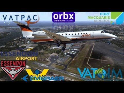 JetGo From Port Macquarie To Essendon On Vatsim - FSX Feelthere ERJ135