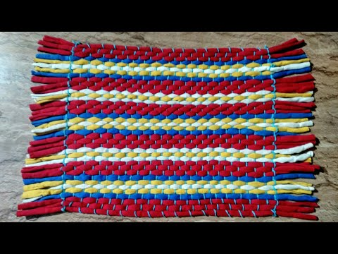 How to make rug, carpet, table mat, door mat using old T-shirts