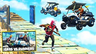 CARTS vs RUNNERS Custom Gamemode in Fortnite Battle Royale