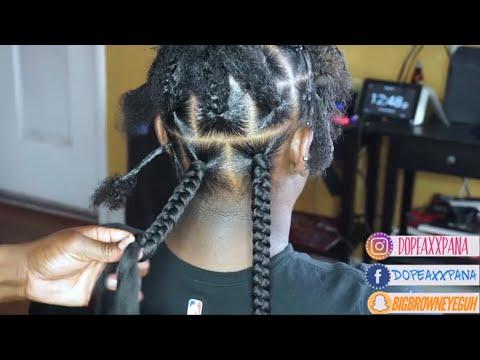 Jumbo Box Braids Hairstyle Tutorial