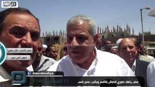 مصر العربية | محلب يتفقد كوبري الكباش بالأقصر ويشرب عصير قصب