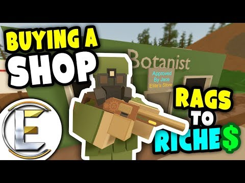 Bought a Shop | Unturned Rags to Riches - Making a gun store and growing berries (Roleplay) #6