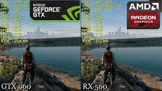 AMD RX 560 vs. GTX 960 | Watch Dogs 2 @ 1080p - Very High Preset