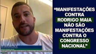 MANIFESTAR CONTRA RODRIGO MAIA NÃO É CRIME! ELE NÃO É O CONGRESSO!