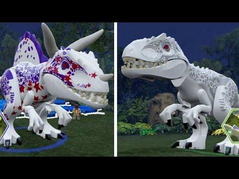 LEGO Jurassic World - Indominus Rex Unlock Location + Gameplay ...