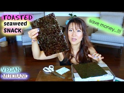 ROASTED SEAWEED SNACKS 101 • Mukbang & Recipe