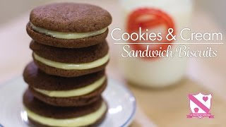 Oreo Style: Cookies & Cream Sandwich Biscuits - In The Kitchen With Kate