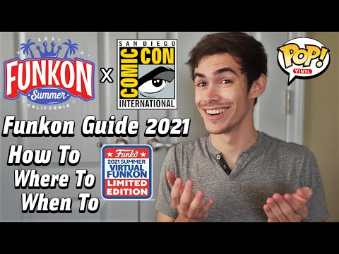 Sdcc 2021 & Funkon 2021 Funko Pop Guide | How To & Where To Get Them!