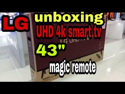 43um7300 UHD 4k LG Unboxing