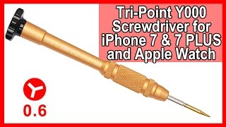 Tri Point Y000 Screwdriver For Iphone 7 7 Plus And Apple Watch Youtube S2 chrome vanadium steel head with electroplating nickel screwhead option. tri point y000 screwdriver for iphone 7 7 plus and apple watch