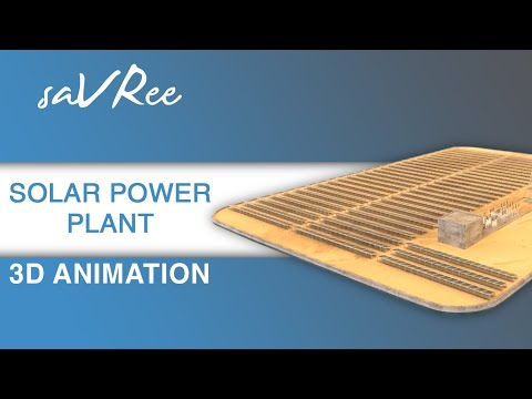 Solar Power Plant 3D Animation