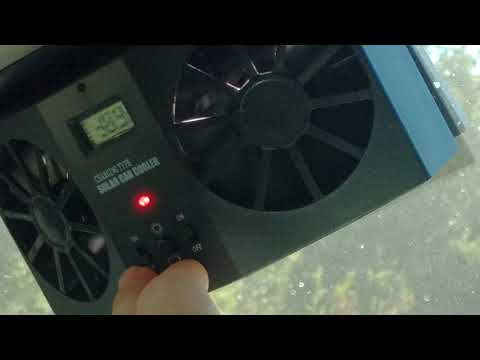 Solar powered car cooler