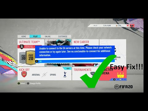 Cant Connect To EA Servers (Fifa 20) EASY FIX!!!