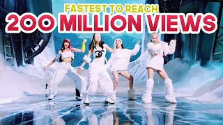 FASTEST KPOP GROUPS MUSIC VIDEOS TO REACH 200 MILLION VIEWS