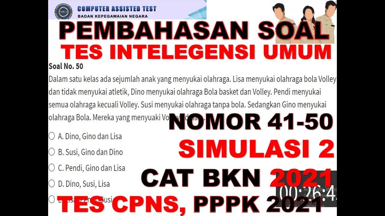 SOAL DAN PEMBAHASAN TIU CPNS DAN PPPK 2021 SIMULASI CAT ...