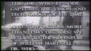 KTCA PBS Doctor Who Hartnell introduction (1980s)