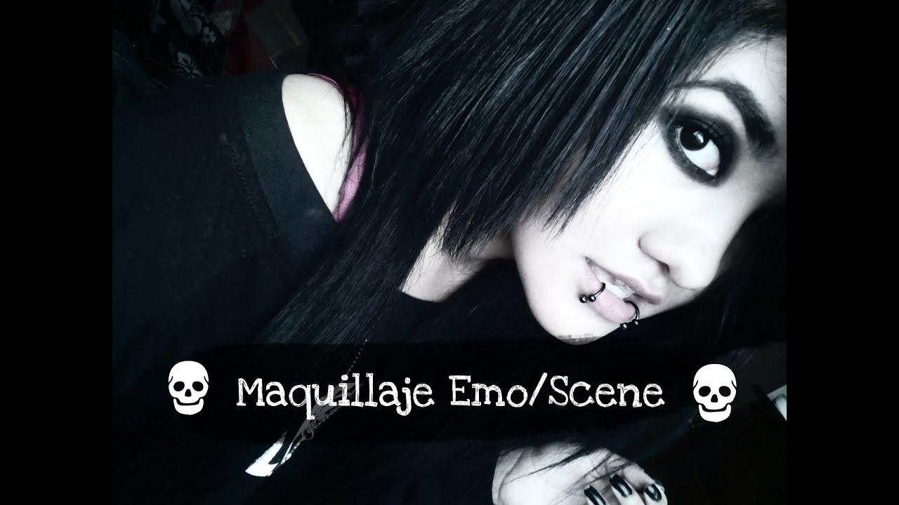 8967a10f3 ♥ Maquillaje Emo/Scene Fácil && Rápido ♥ (Ojo Ahumado) - YouTube