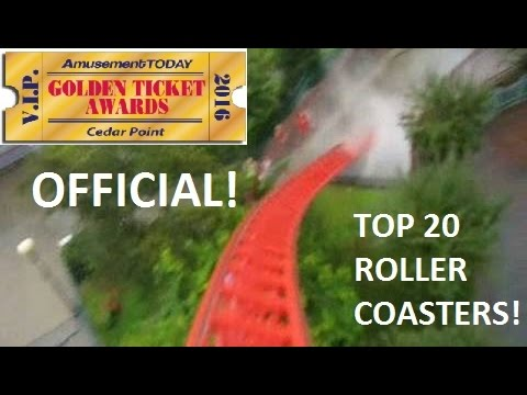 Golden Ticket Top 20 Steel Coasters 2016/2017