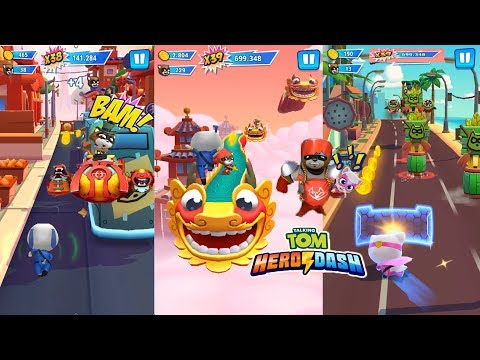 Talking Tom Gold Run Gameplay - VS Talking Tom Hero Dash Gameplay Ep.2