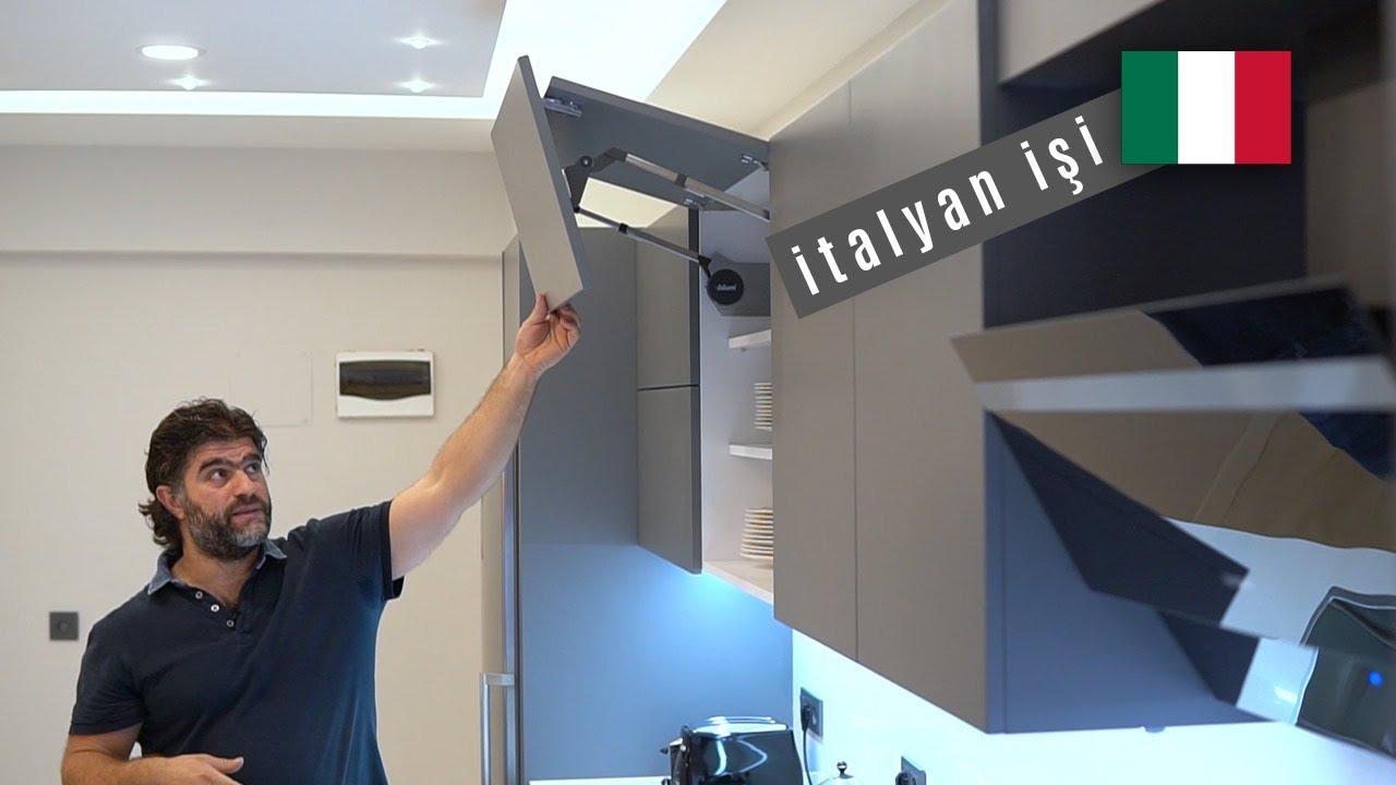 Gri Lake Akrilik İtalyan Mutfağı | mutfak dolabı  | 2020 2021 GRİ mutfak modelleri |gizli kulp |