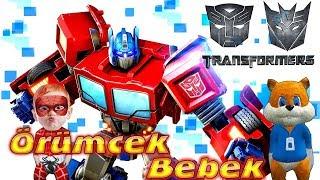 Örümcek Bebek ve Sincap Transformers Oynuyor Örümcek Bebeğin Tablet Oyunları