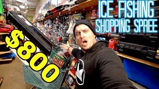 $800 Ice Fishing Shopping Spree!! FINALLY Upgrading My Equipment
