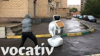No Retreat For Russian Robot From Random Road Rage Onrush