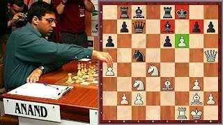 Absolutely Insane Double Rook Sacrifice By Anand