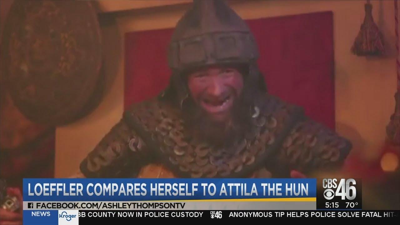 Senator Kelly Loeffler compares herself to Attila the Hun