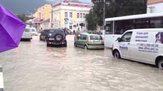 Геленджик ,потоп 2012 июль