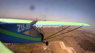 Bantam microlight takeoff and landing tail view