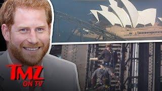 Prince Harry Scales Sydney Harbour Bridge! | TMZ TV