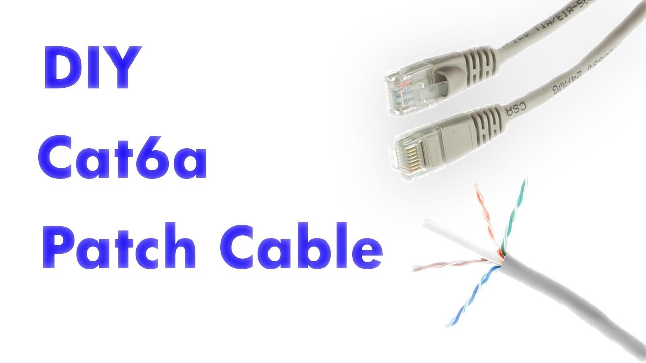 How to Make a Cat6a Patch Cable Cat A Wiring on