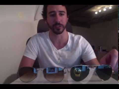 b4149c00faa Difference Between Ray-Ban Aviators vs. Cockpit Sunglasses - YouTube